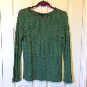 Lauren Ralph Lauren Green Sweater Large